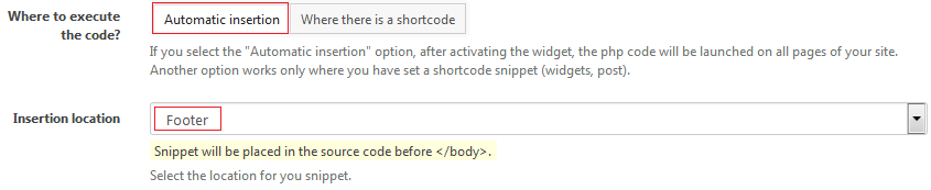 Custom CSS File: Configure the snippet in Woody ad snippets